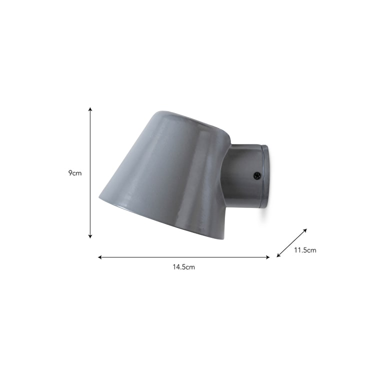 Mast Outdoor Wall Light in Grey or Silver  | Garden Trading