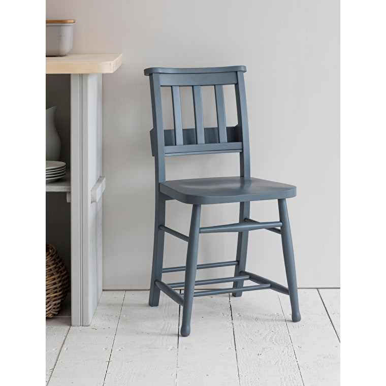 Wooden Chapel Chair in Grey  | Garden Trading