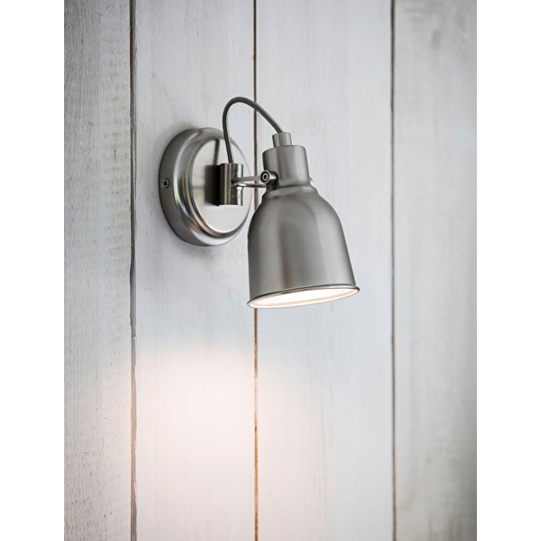 Walton Indoor Wall Light in Silver | Garden Trading