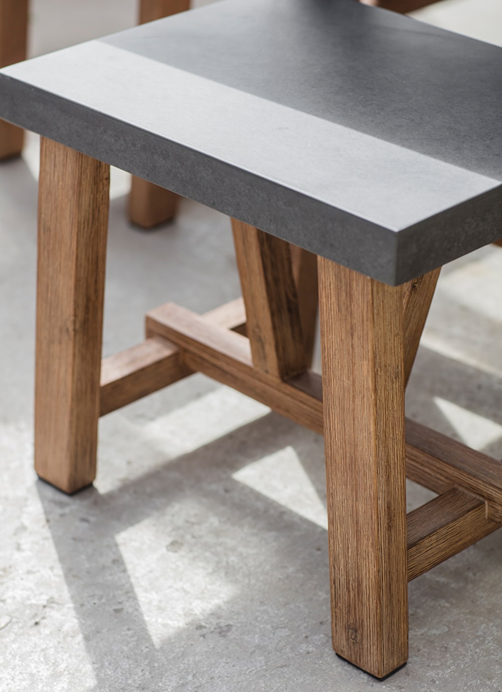 Cement Indoor and Outdoor Chilson Table and Bench Set in Small or ...