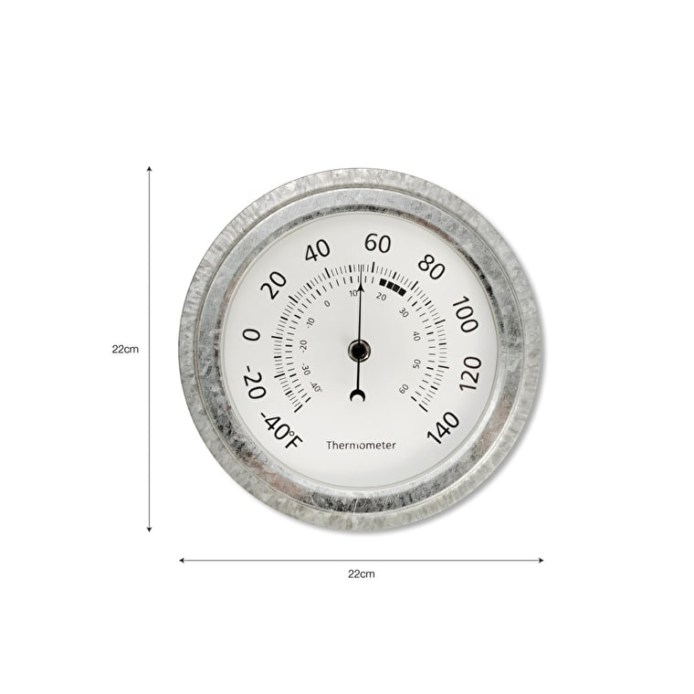 Galvanised St Ives Thermometer   Garden Trading
