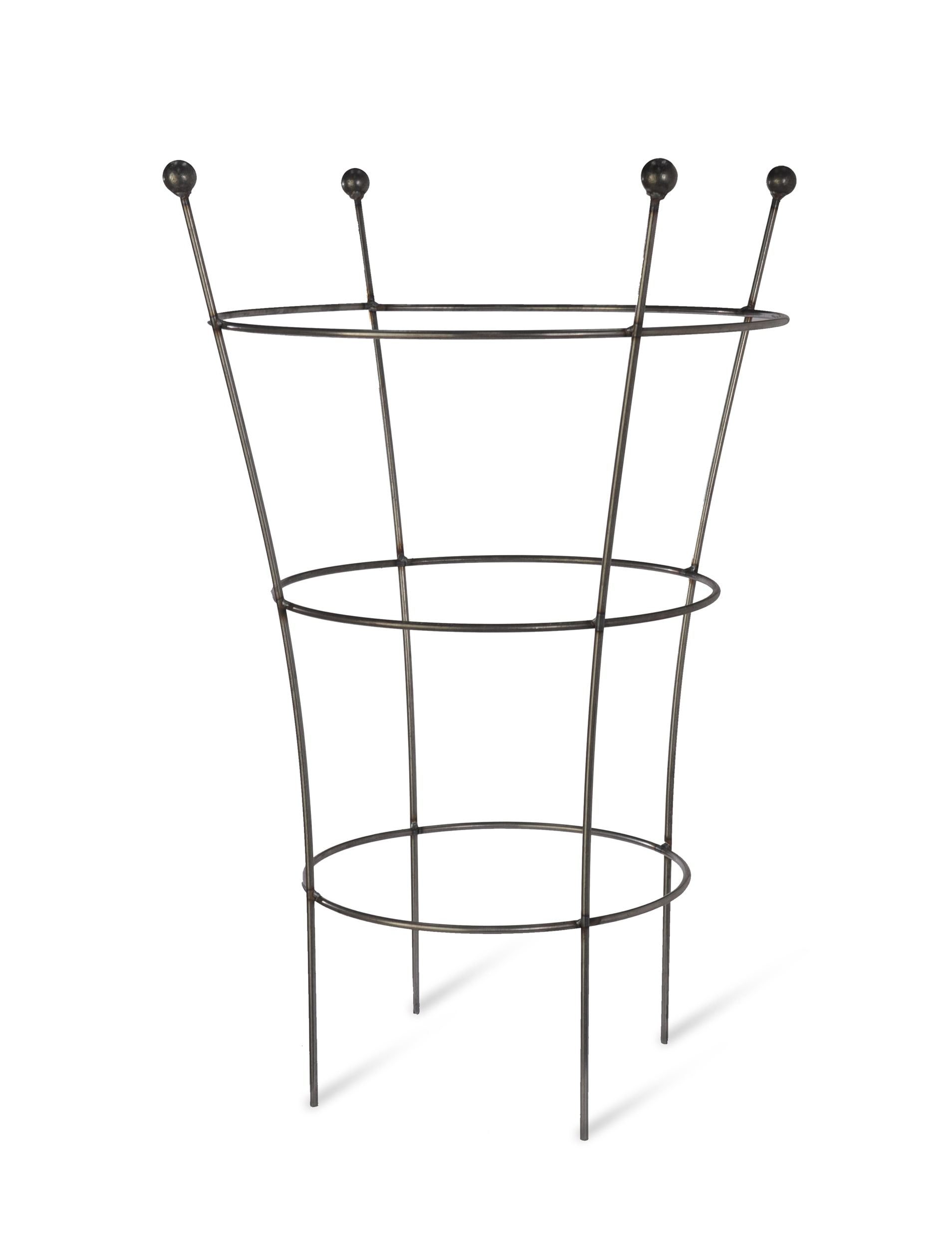 Raw Metal Flared Barrington Plant Support in Small or Large | Garden Trading