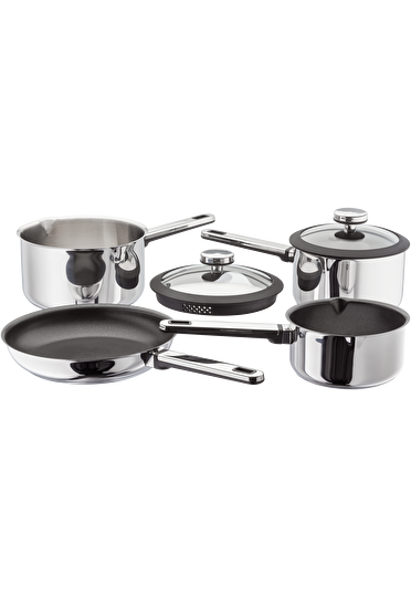 Stellar Stay Cool  Draining Saucepan Set Non-Stick