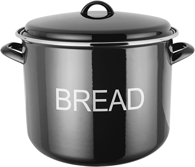 Judge Induction  Bread Crock, enamel