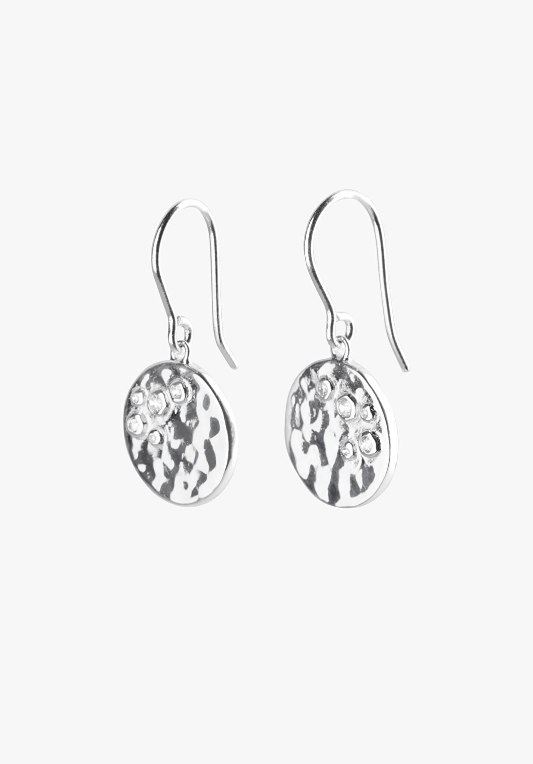 Hammered Coin Earrings | hush