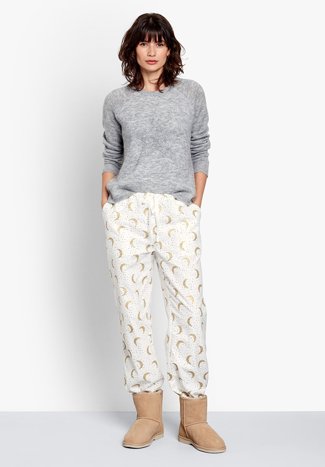 Moon Dot Flannel PJ Trousers | hush