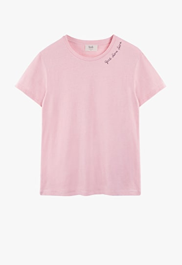 Embroidered Neckline Tee