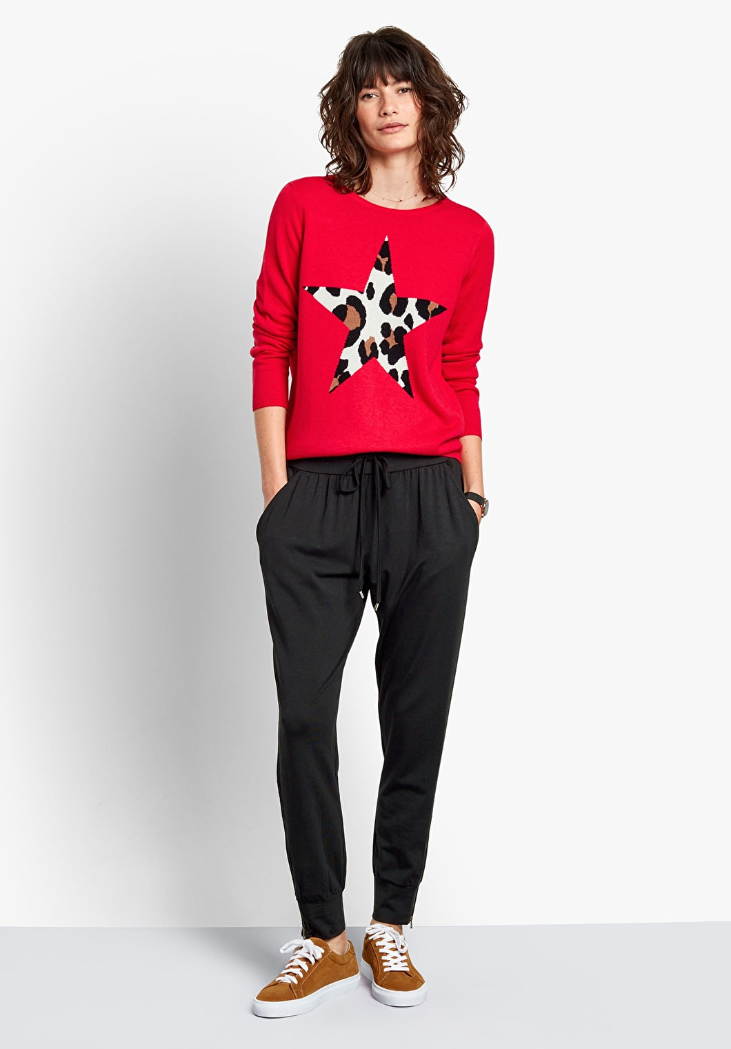 Leopard Star Jumper | hush