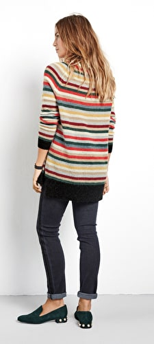 Striped Boyfriend Jumper