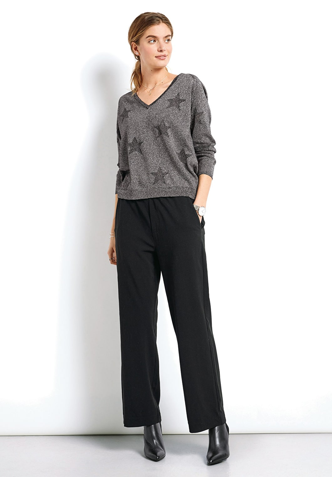 Lurex Star Jumper | hush