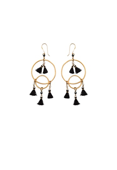 Chandelier Pearl Tassel Earrings