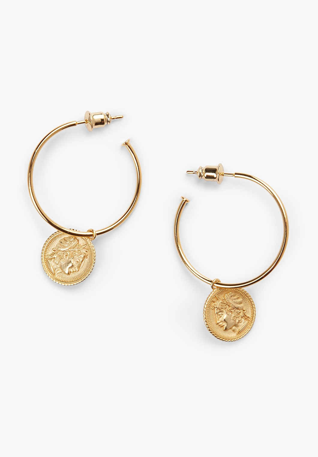 Roman Coin Hoop Earrings | hush