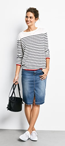 Tipped Stripe Jumper