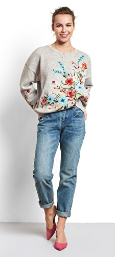 Fiore Embroidered Jumper