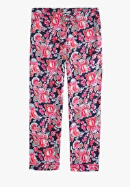 Piped Printed Trousers