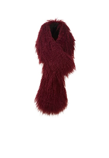 Crimped Faux Fur Scarf
