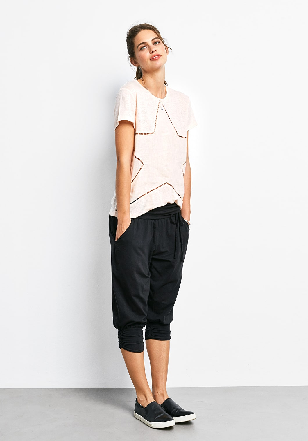 Linen Star Cut Out Tee | hush