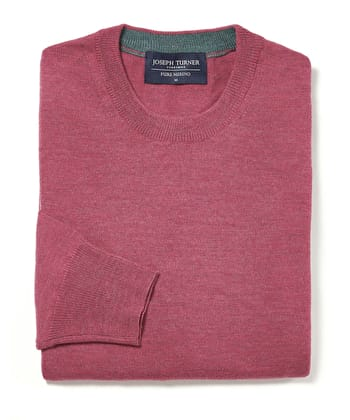 Merino Jumper - Crew Neck - Raspberry