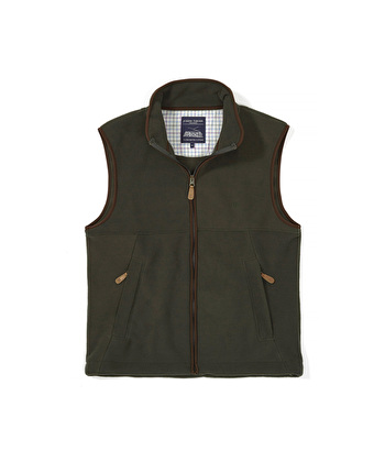 Coverdale Fleece Gilet - Olive