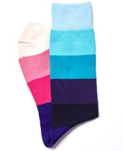 Wide Stripe Cotton Socks
