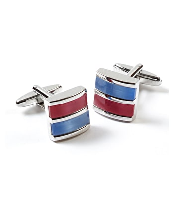 Blue/Pink Bar Cufflinks