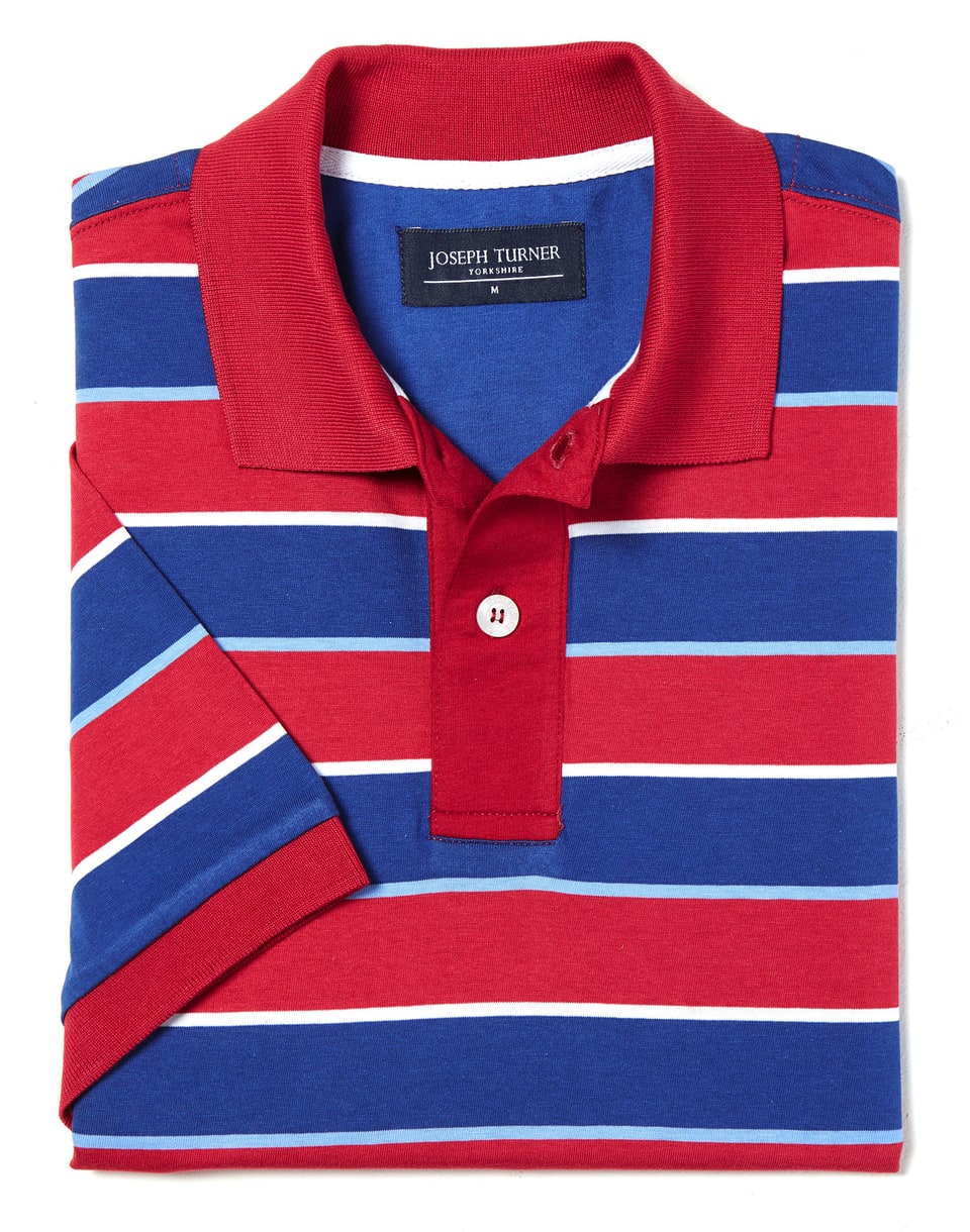 7a69be2e9 new zealand cuban fit star patch polo shirt red blue 244be eec92  good mens tops  t shirts striped jersey cotton polo shirt by joseph 58dcf 844ef