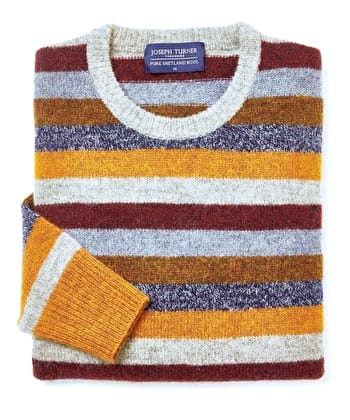 Shetland Striped Crew Neck - Multicolour