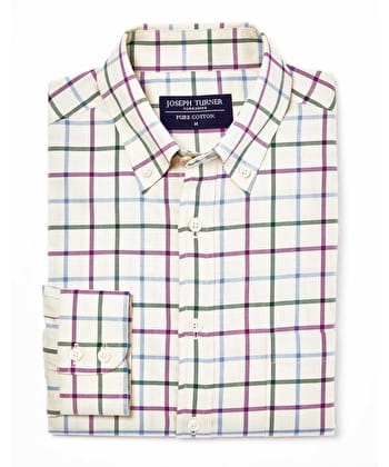 Leyburn Shirt - Green/Purple