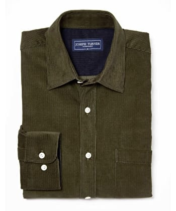 Needlecord Shirt - Dark Olive