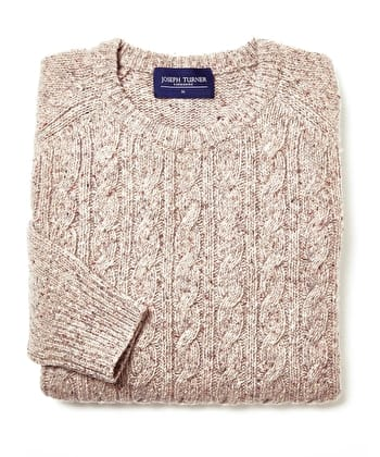 Donegal Cable - Crew Neck - Taupe