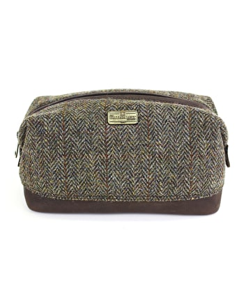 Caledonian Wash Bag - Tweed