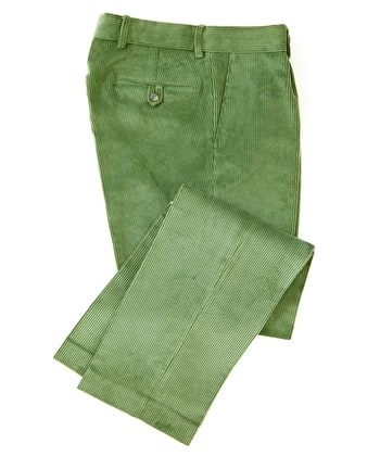 Corduroy Trousers - Soft Green