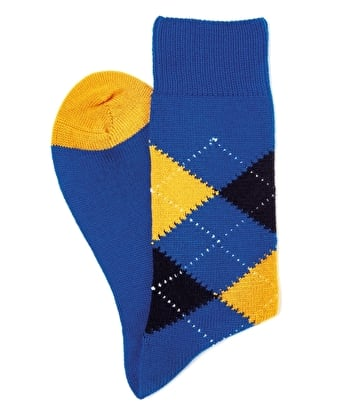 Argyle Socks - Royal/Yellow/Navy