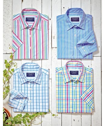 Weekend Shirt - Short Sleeve - Blue/Pink/Yellow
