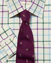 Purple/Green Country Check Shirt