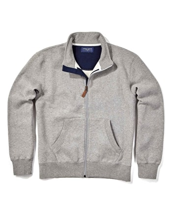 Full-Zip Jersey Sweatshirt - Grey
