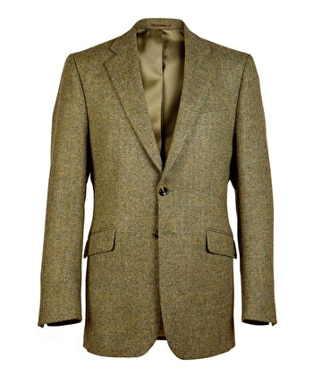 Dales Tweed Jacket - Green Herringbone