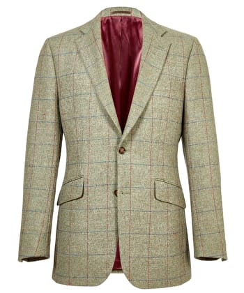 Dales Tweed Jacket - Blue/Red Check