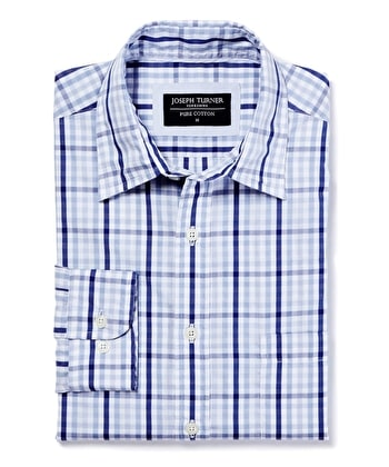 Weekend Shirt - Long Sleeve - Blue Check