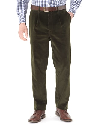 Corduroy Trousers - Dark Green