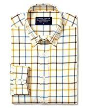 Leyburn Shirt - Gold/Blue/Brown