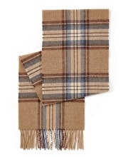 Lambswool Scarf - Navy/Camel