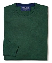 Merino Jumper - Crew Neck - Forest