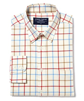 Button-Down Tattersall Check - Red/Blue