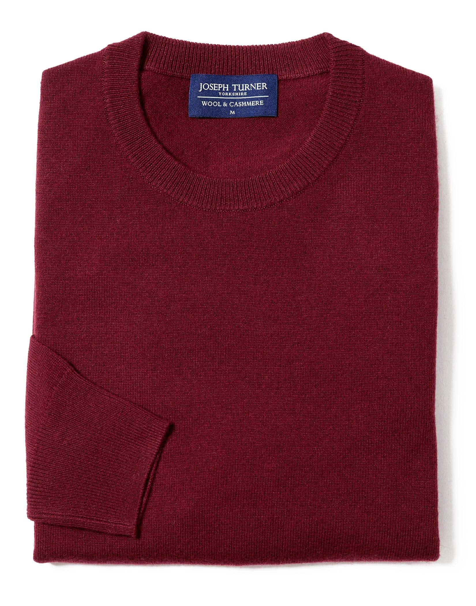 Wool/Cashmere Jumper - Crew Neck