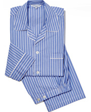 Pyjamas - Blue/White Stripe - Fine Cotton