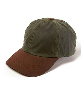 Peaked Cap - Olive Waxed Cotton
