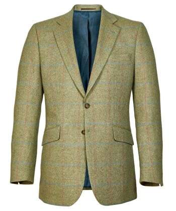 Summer Tweed Jacket - Green/Pink Check