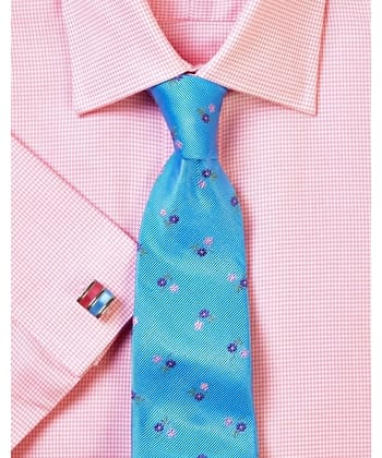 Pink Houndstooth Check Shirt