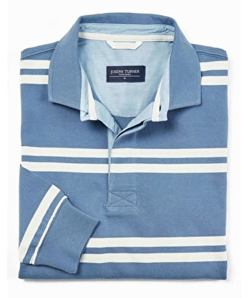 Rugby Shirt - Blue/Ecru